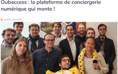 « Oubaccess : la plateforme de conciergerie numérique qui monte » Immomatin